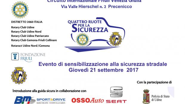 Giovedì 21 settembre a partire dalle ore 9,00 oltre 40 studenti delle scuole superiori di Udine e Gemona del Friuli parteciperanno ad una giornata dedicata alla sicurezza stradale presso il […]