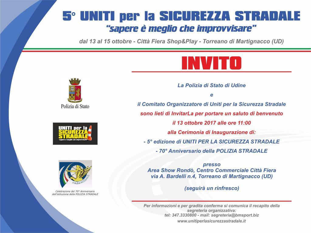INVITO 5° edizione Uniti per la Sicurezza Stradale - r