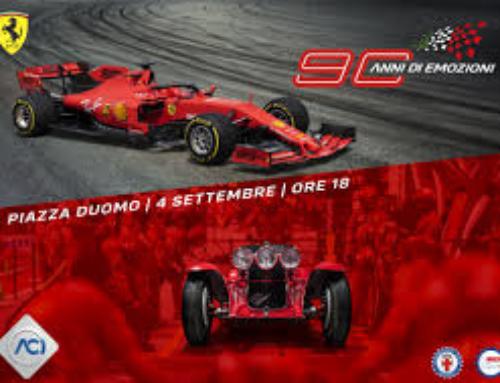 ACI e Ferrari a Milano in Piazza Duomo:  90 anni di emozioni