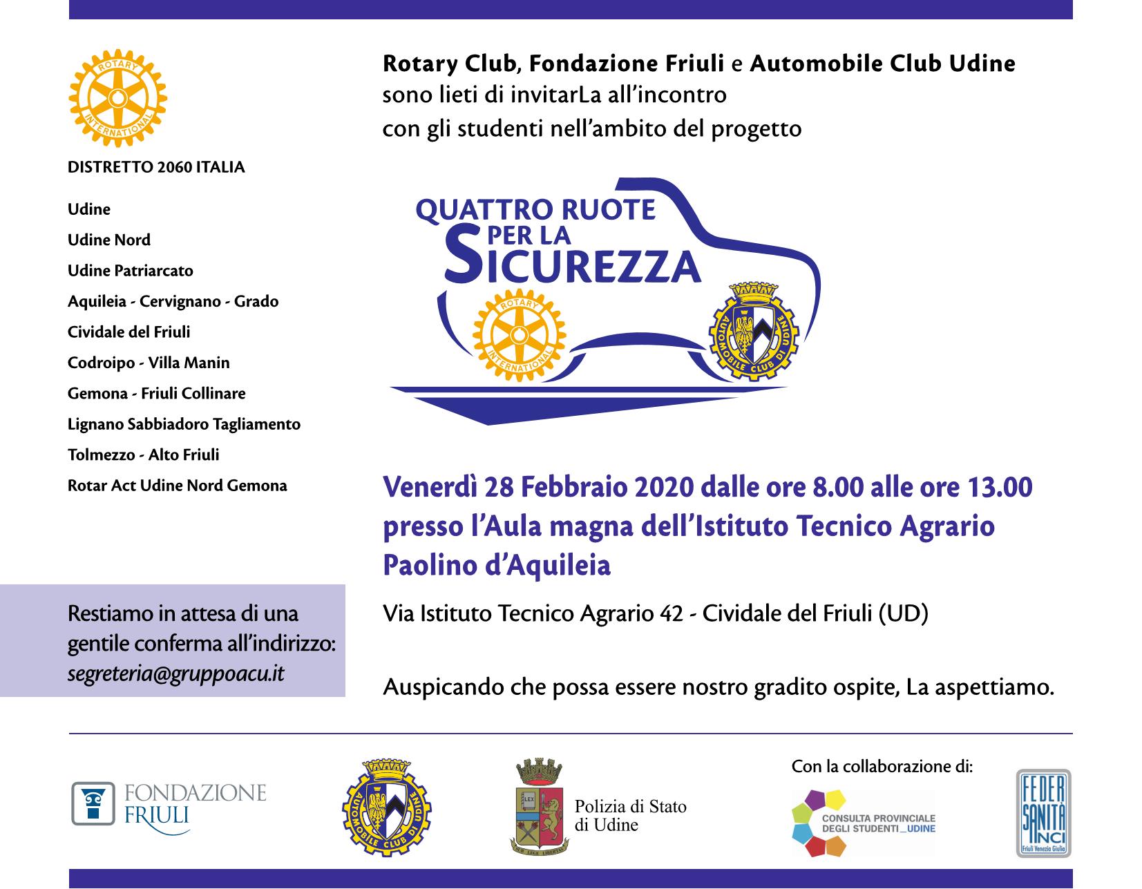 Quattro ruote per la sicurezza a Cividale del Friuli
