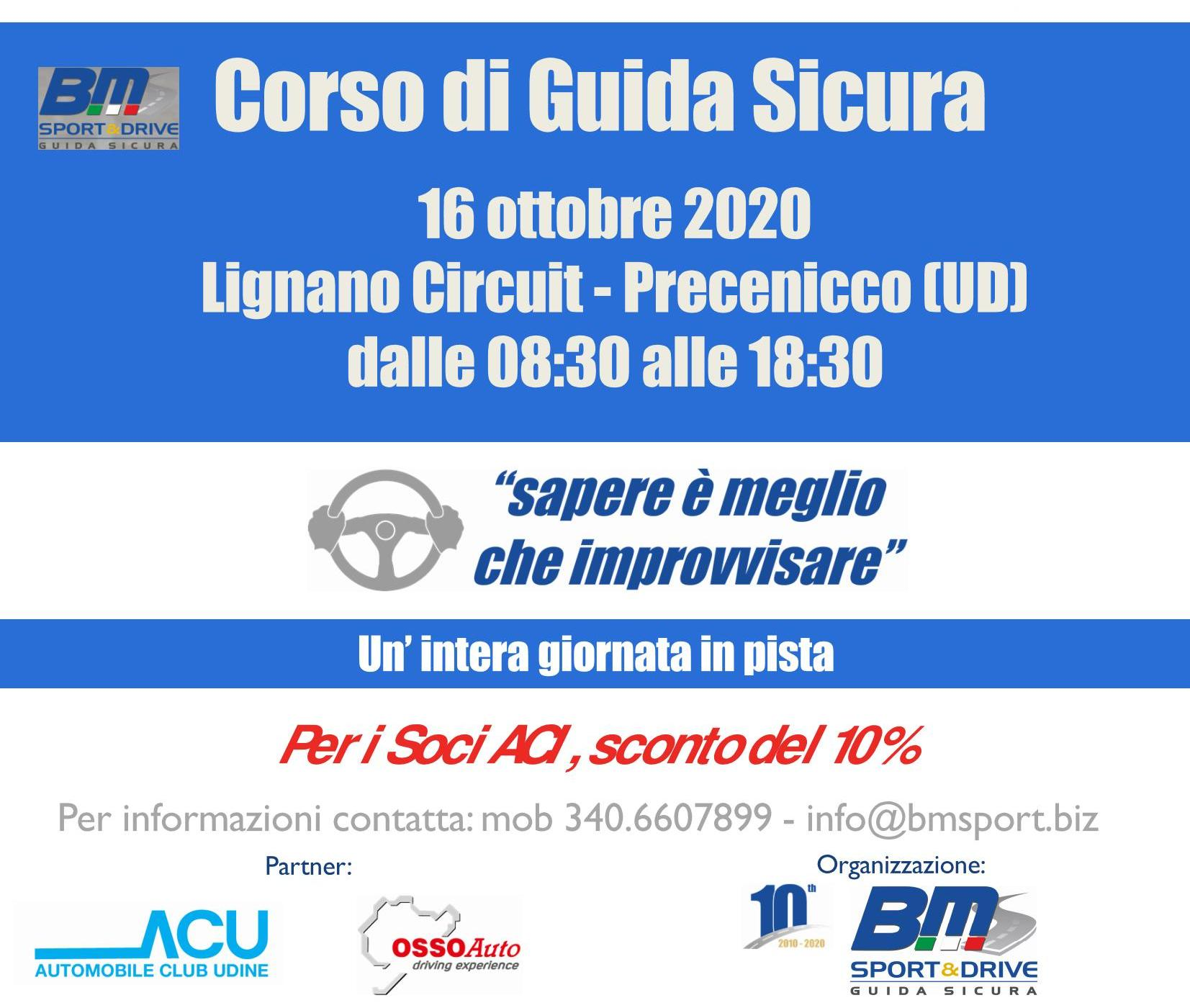 Corso di Guida sicura ex D.Lgs 81/08 a Precenicco